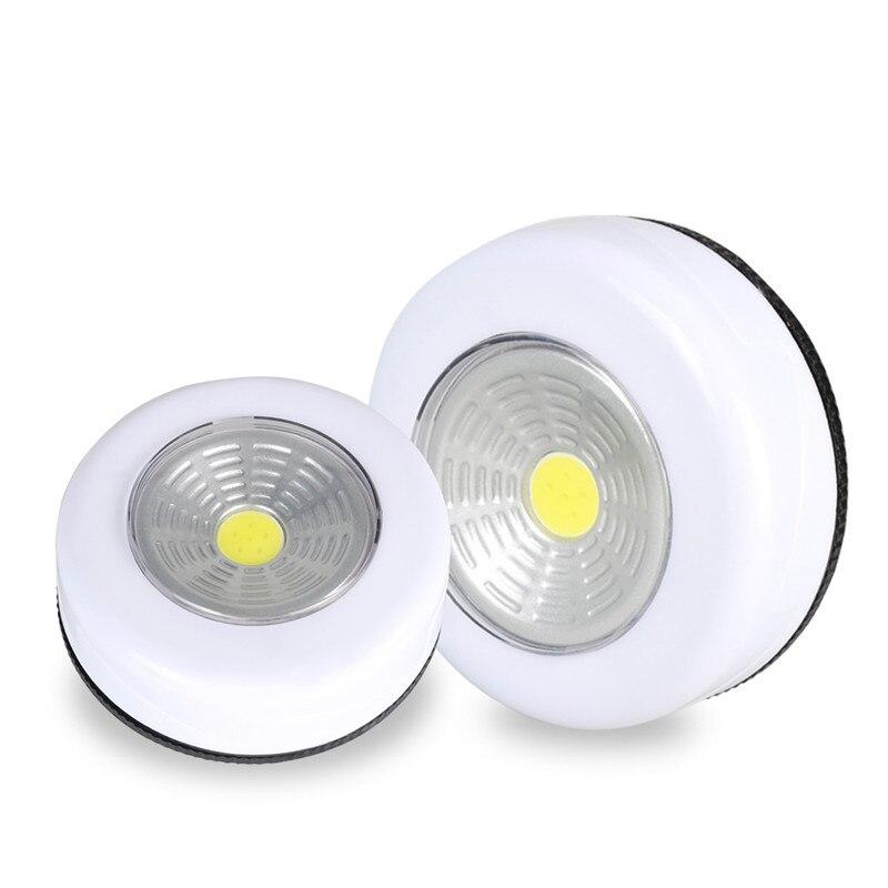 Lámparas inteligentes Luces LED de noche Luz de armario lámpara de pared alimentado por batería 2W 5V ABS para cocina dormitorio gabinete Iluminación del pasillo