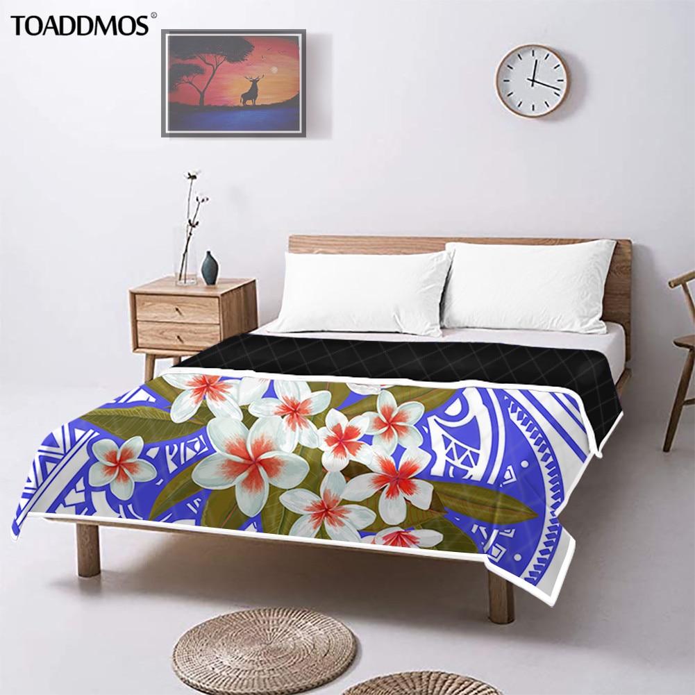 تودموس بلوميريا بولينيزيا القبلية نمط نوم تكييف الهواء لحاف للأطفال الكبار الراحة رقيقة لحاف صيفي فراش سرائر للمنازل