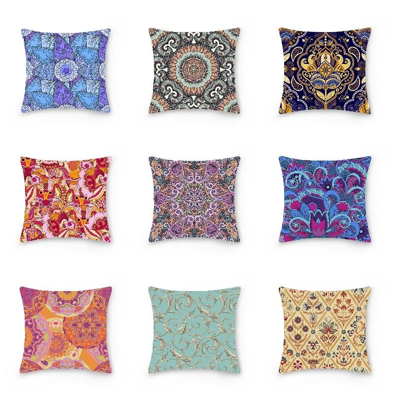 Наволочки в богемном стиле, декоративные наволочки с мандалой для дивана, кресла, кресла, кровати, автомобиля, домашний декор, наволочка