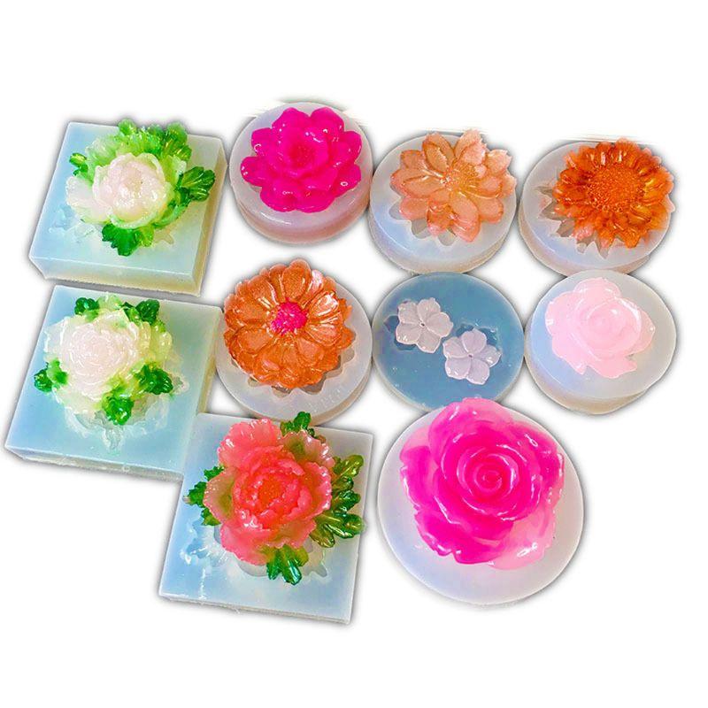 DIY силиконовые формы в виде цветка Смола Камелия Пион Маргаритка цветок лотоса ювелирные изделия D0LC
