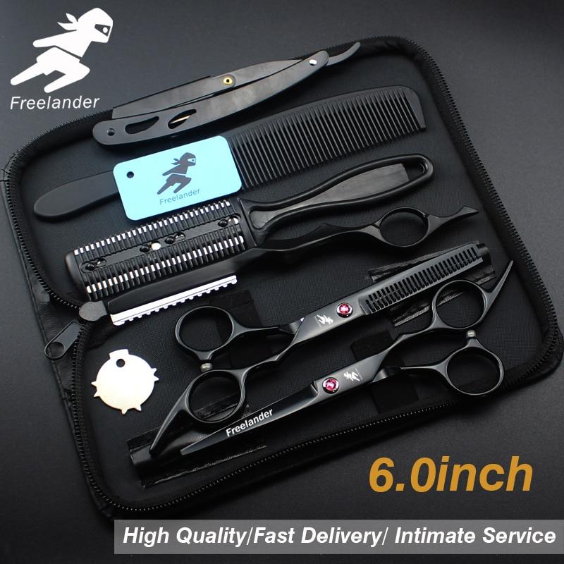 6.0inch hairdressing set Pet scissors Japan 440C Sharp Quick-cut hair scissors with advanced screws Adjustable