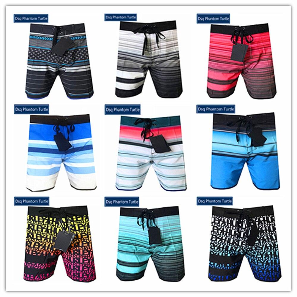 2020 recién llegados marca Dsq Phantom Turtle Beach Board Shorts hombres elástico Spandex bañador de Bermuda Shorts 100% de secado rápido