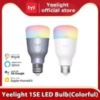 Yeelight     ampoule LED connectee 1S 1SE  coloree  E27  800 650 Lumens  pour application mi home et Google Assistant