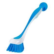 Poêle à récurer verticale permettant de gagner de lespace   Outil de lavage de la vaisselle, à Long manche, ventouse de cuisine domestique, brosse de nettoyage multifonction