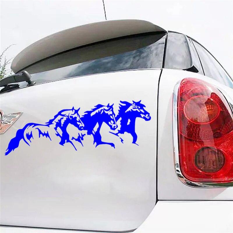 CS-1563 # corriendo caballos reflectante divertido coche adhesivo impermeable autoadhesivo pegatina de vinilo para auto coche pegatinas de estilo