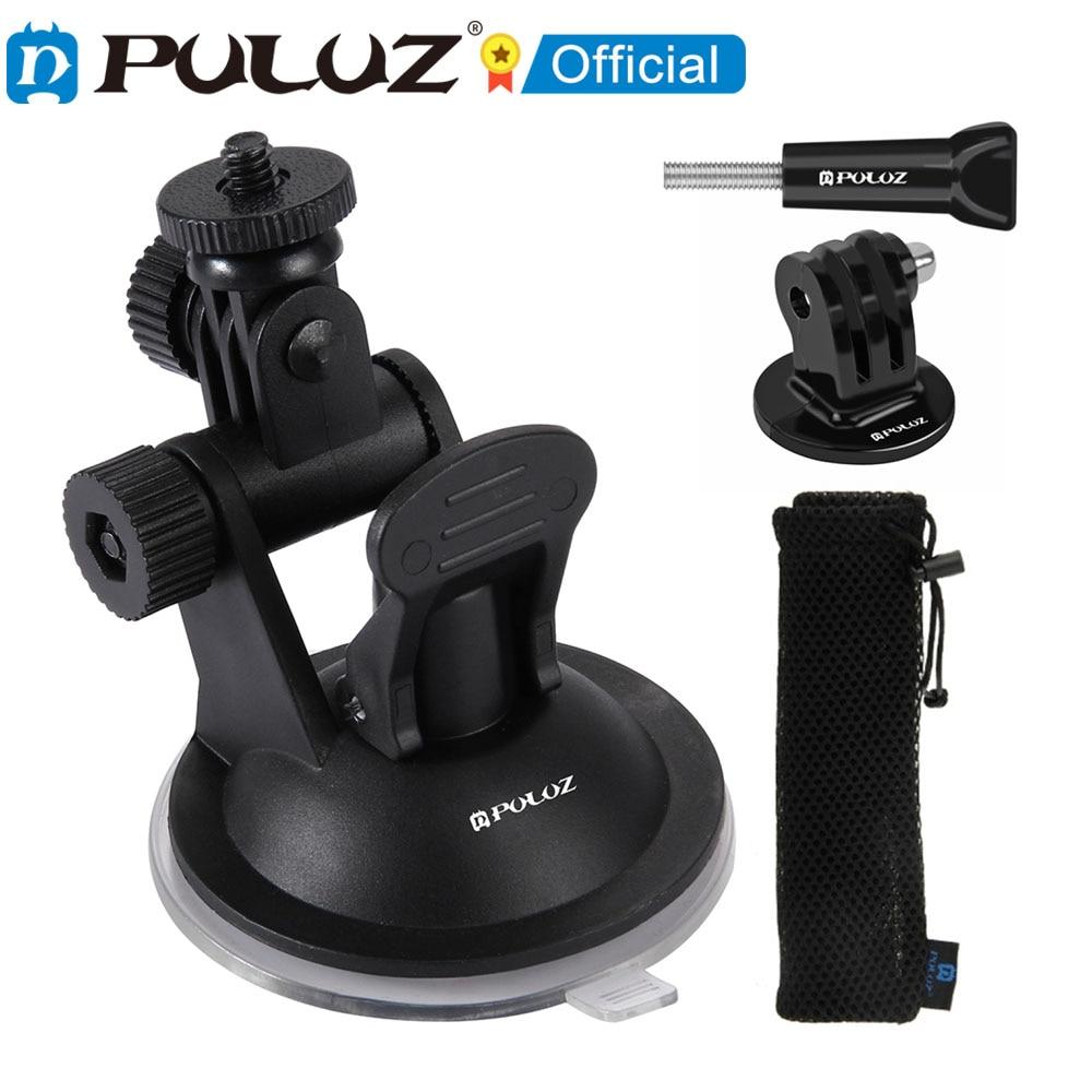 PULUZ-Montura de ventosa para coche with tornillo y adaptador de montaje para...