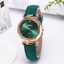 Crystal Wrist Watch for Women Leather Casual Watch Luxury Analog Quartz Bracelet watch Rhinestone Gi