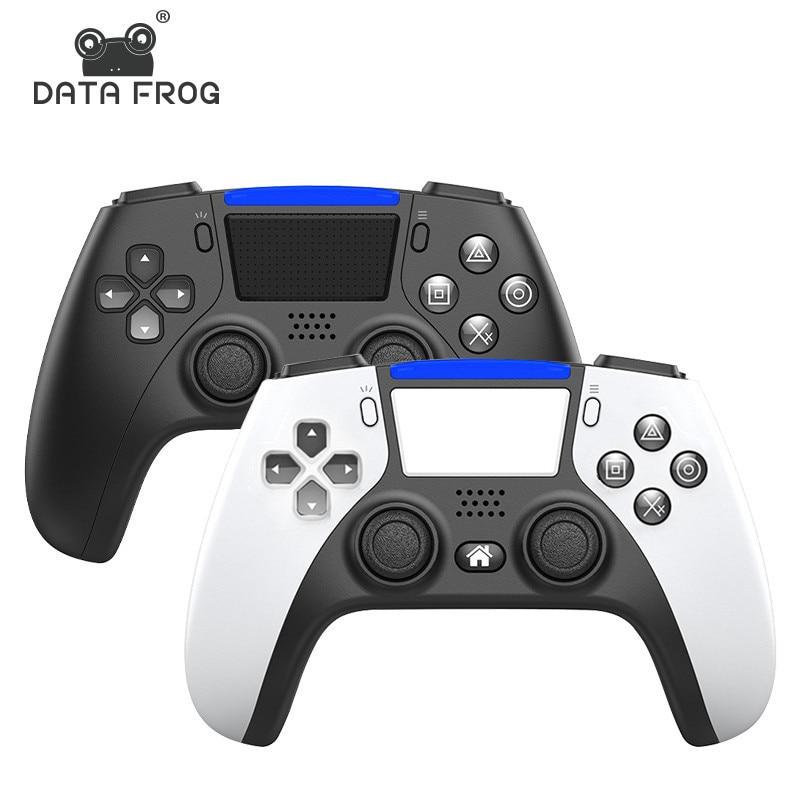 DATA FROG-mando inalámbrico con Bluetooth para PS4, mando con doble vibración para...