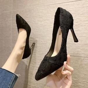 French high-heeled women's fine heels women's 2021 new spring and autumn fashion shoes heels women  women shoes high heel
