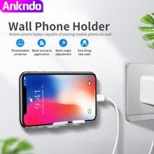 ANKNDO Универсальный самоклеящийся вращающийся настенный держатель Мобильный телефон заряжаемый Многофункциональный кронштейн Подставка для хранения