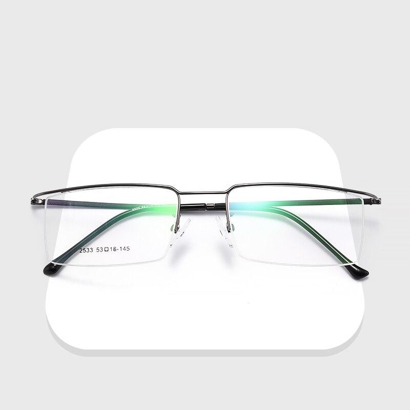Nova liga de titânio óculos metade aro armação óptica prescrição óculos templo fio dos homens nova luz fina óculos de olho