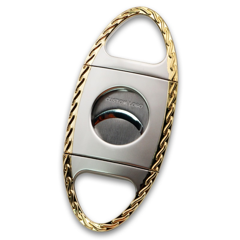 4pcs/lot Cigar Cutter Portable Tobacco Scissors Dual Blades Smoking Tools Accessories Ring Gauge 58(0.9inch) Hole opener enlarge
