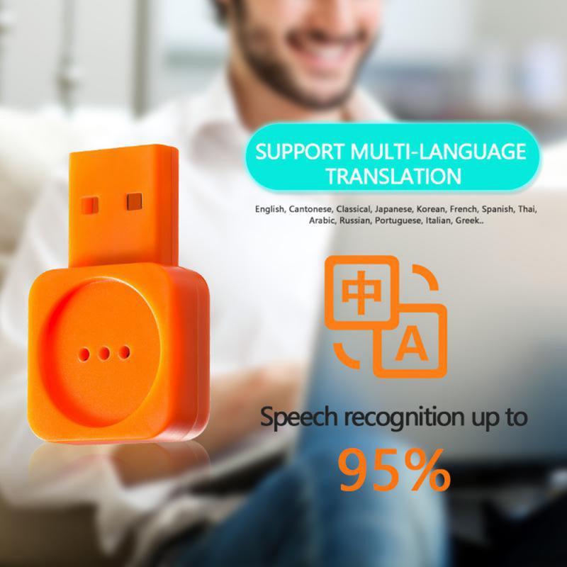 Tradutor inteligente da língua do controle de voz do microfone de voz usb inteligente para a conferência da fase do computador mirco mic