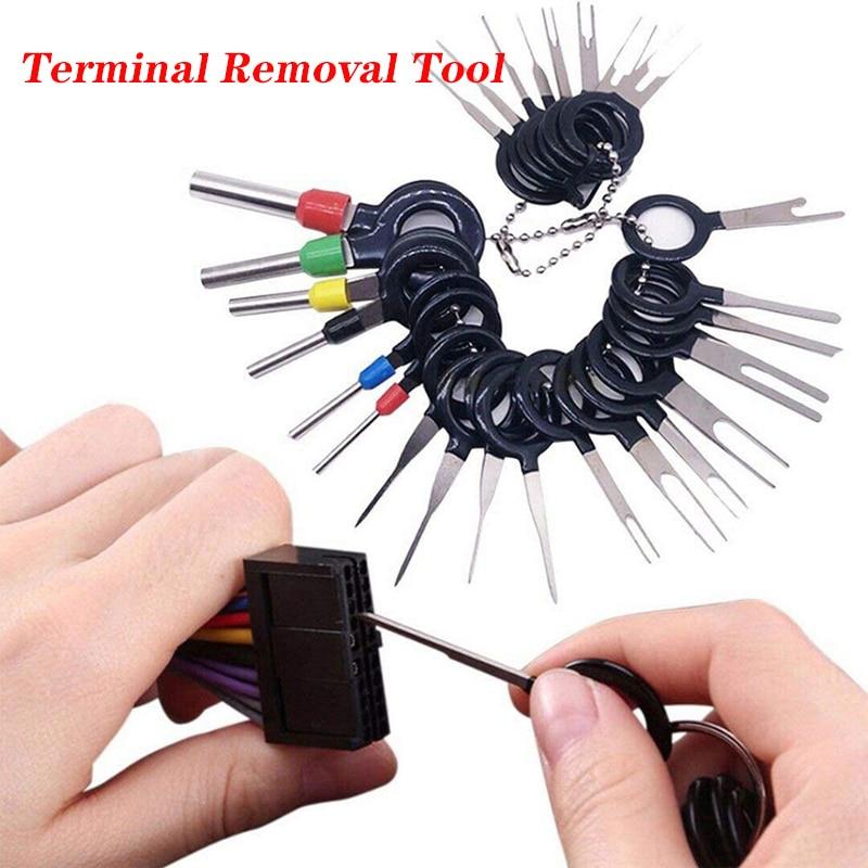 Coche Terminal de eliminación eléctrica pinza de presión para cables Kit Extractor...