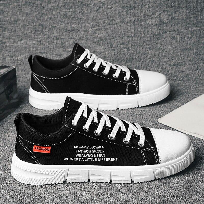 Nuevos zapatos de lona informales transpirables de estilo popular, zapatillas antideslizantes de tendencia juvenil, ligeras y cómodas, zapatillas de moda para hombres salvajes