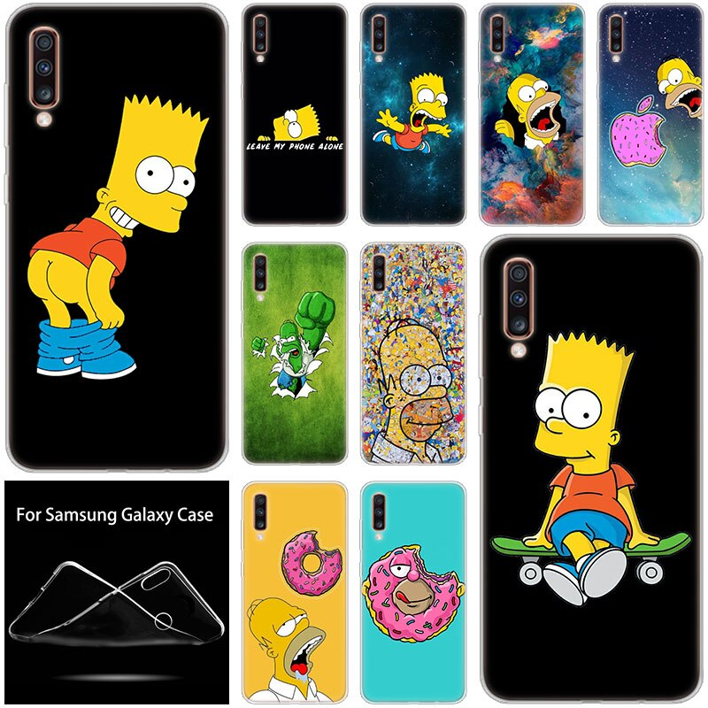 Caliente la Simpson funda de silicona suave para Samsung Galaxy A90 A80 A70 A60 A50 A40 A30 A10 A20E A2CORE A9 A7 A8 A6 Plus 2018 A5 2017