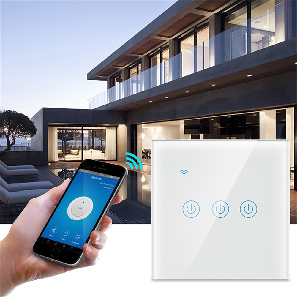 AliExpress - UBARO EU Tempered Glass Panel Tuya Smart Home Wifi Touch Switch Voice Support Google Assistant Alexa App Control Smart Switches