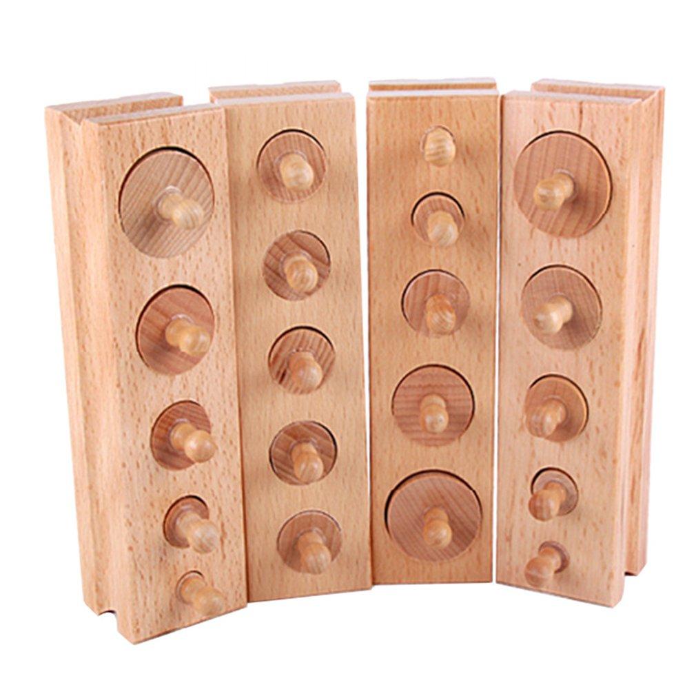 Materiales de madera para bebés, juguetes de bloques Montessori, juegos educativos, bloques cilíndricos, juguete para padres, niños, bloques interactivos, MatchToy