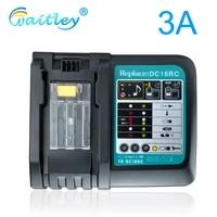 battery charger 3a fast charging current for makita 14 4v 18v 7 2v tool batterys eu plug 90w dc18rct dc18ra 1290 bl1850 bl1860