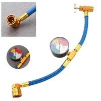 car auto air condition r134a refrigerant recharge hose fluoride adding tube pipe car air conditioning refrigerant measuring hose