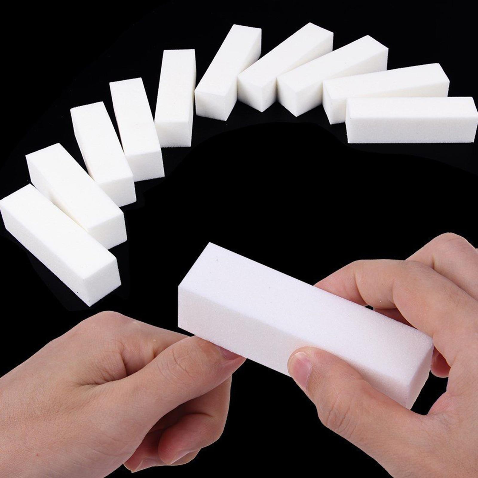 1/5/10 Uds lima de uñas blanca bloque de tope de lijado para esmalte de uñas Lima no daña las uñas duradero Dropshipping nuevo