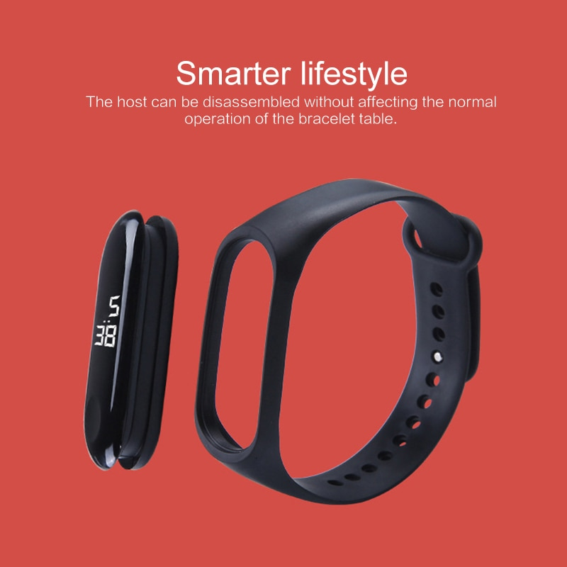 LED Electronic Wristband Watch Fashion Student Sport Bracelet Digital Display Couple Watch For Stude