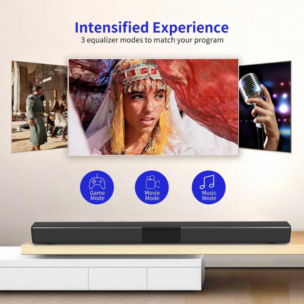 YOUXIU TV Soundbar Wireless Bluetooth 5.0 Surround Sound Bar Stereo Speaker Home Theater Soundbars enlarge