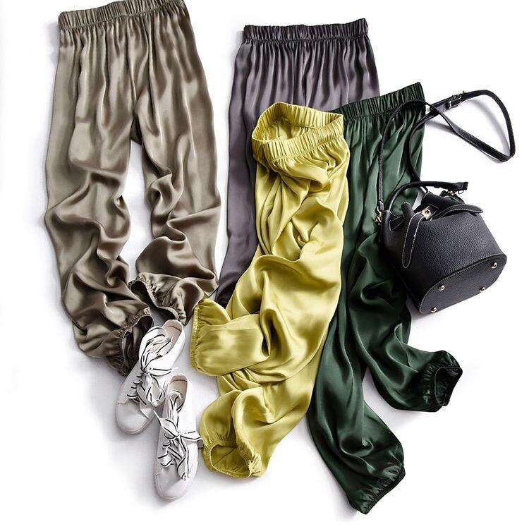Летние женские удобные брюки-султанки, брюки с высокой талией, брюки-султанки