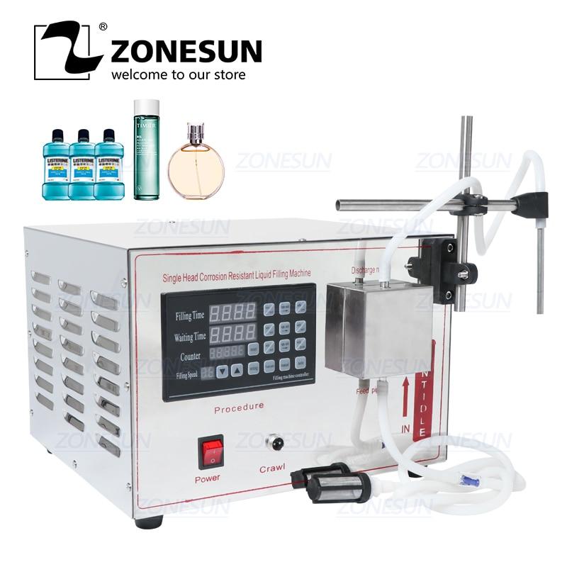 ZONESUN GZ-YG1 Automatic Magnetic Pump Filling Machine Perfume  Juice Essential Oil Liquid