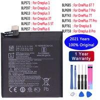 Аккумуляторная батарея для OnePlus 1, 2, 3T, 5, 5T, 6, 6T, 7 Pro, 7T, 7T Pro, 8, 8 pro, BLP633, BLP637, BLP685, BLP699, BLP743, BLP745, оригинальная