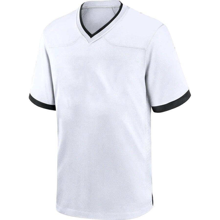 Мужские футболки для американского футбола на заказ, голубые, красные, белые, серые