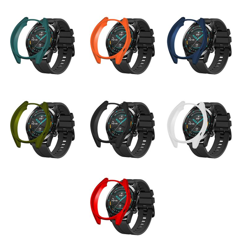 TPU funda protectora de reloj inteligente delgada para Huawei Watch GT GT2 Active Case Frame Anti Scratch cáscara Smartwatch Accesorios