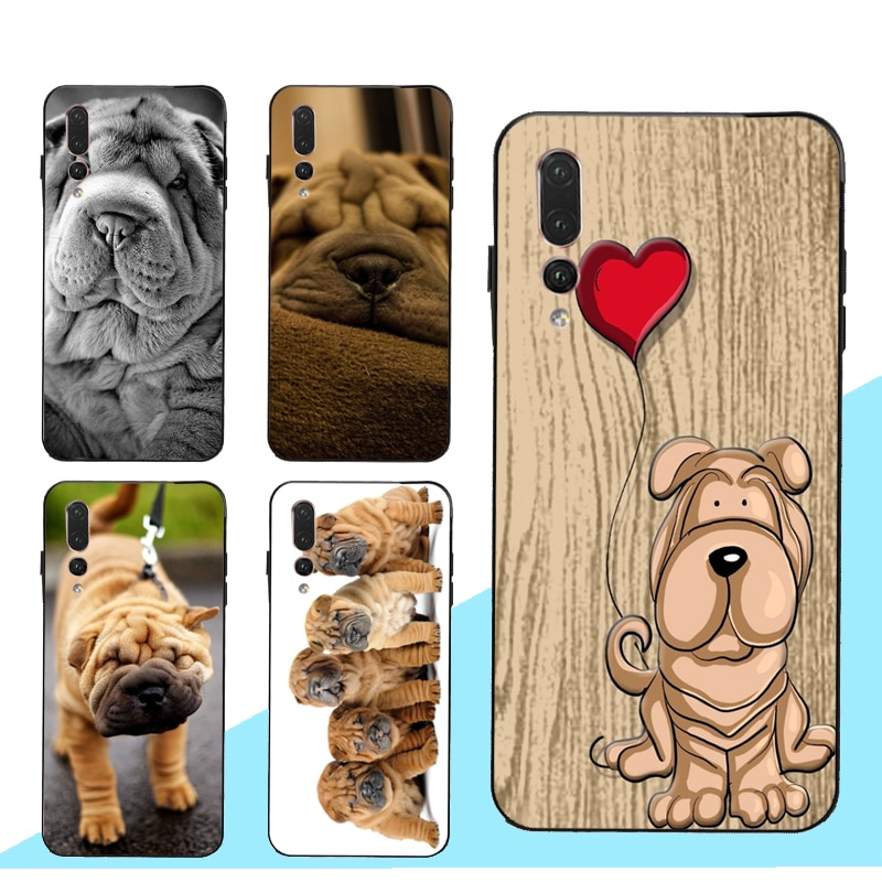 Shar Pei perro funda para Huawei Honor 10i 20 8X 9X 9 10 Lite 7C 7A Pro 8A 8C 8S Y9 Y6 Y7 2019 Nova 5T