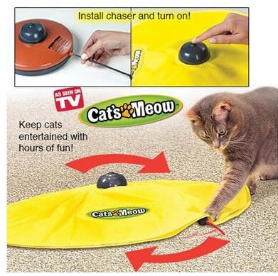 Maullido del gato interactivo juguete del ratón para juguete de gato de gatito gracioso como visto en TV Juguetes