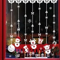 christmas cartoon wall stickers hanging decoration pvc bedroom living room window holiday decorations removable stickers