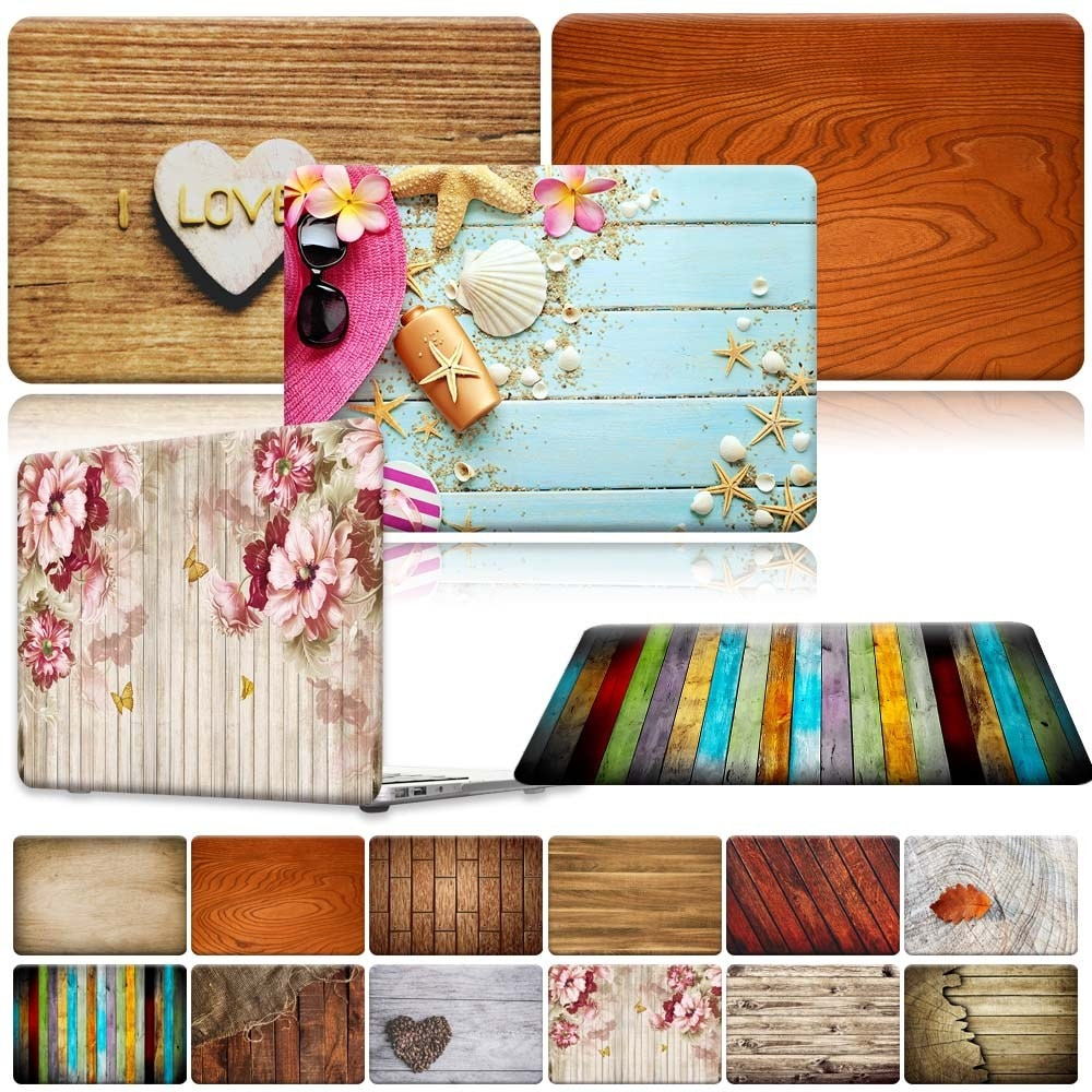 For Apple MacBook Air Pro Retina 11 12 13 15 16 / 13.3 A1369 A1466 Pro 16 A2141/ Air A2179 A1932 - Wood Laptop Shell case cover forest case for macbook air 13 a1466 a1369 marble glitter clear laptop cover for macbook air 13 inch a1932 a2179 2018 2020 cases