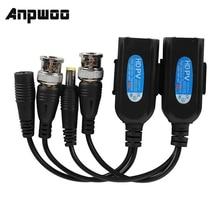ANPWOO 1 Pair Passive CCTV Coax BNC Video Power Balun Transceiver to RJ45 Connector Hot sale