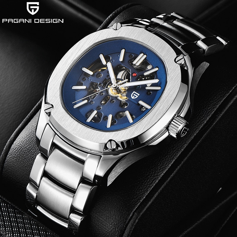 2020 New PAGANI DESIGN Mechanical Watch Men Waterproof Automatic Men Wristwatch Hollow Casual Watch Top Luxury Brand Sport Clock pagani design new 007 commander men s mechanical watches top brand luxury watch men 100m automatic waterproof fashion wristwatch
