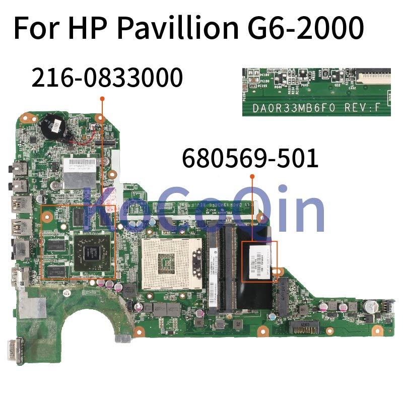 Laptop motherboard Para HP Pavilion G4-2000 DA0R33MB6E0 G6-2000 G7-2000 DA0R33MB6F1 680569-001 Mainboard 680569-501 SLJ8E