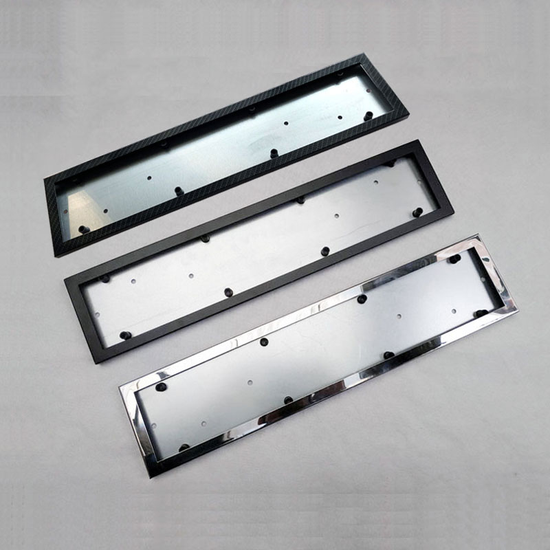 1 pcs car license plate frame stainless steel license plate frame number plate holder front and rear fit eu 1 Pcs Car License Plate Frame Metal Frame License Plate Holder Number Plate Holder Fit EU Vehicles Standard Car Styling