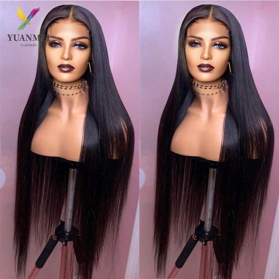 Yuanmei 40 Inch Lace Front Human Hair Wig Straight Lace Front Wig Lace Frontal Wig Brazilian Hair Wig For Women