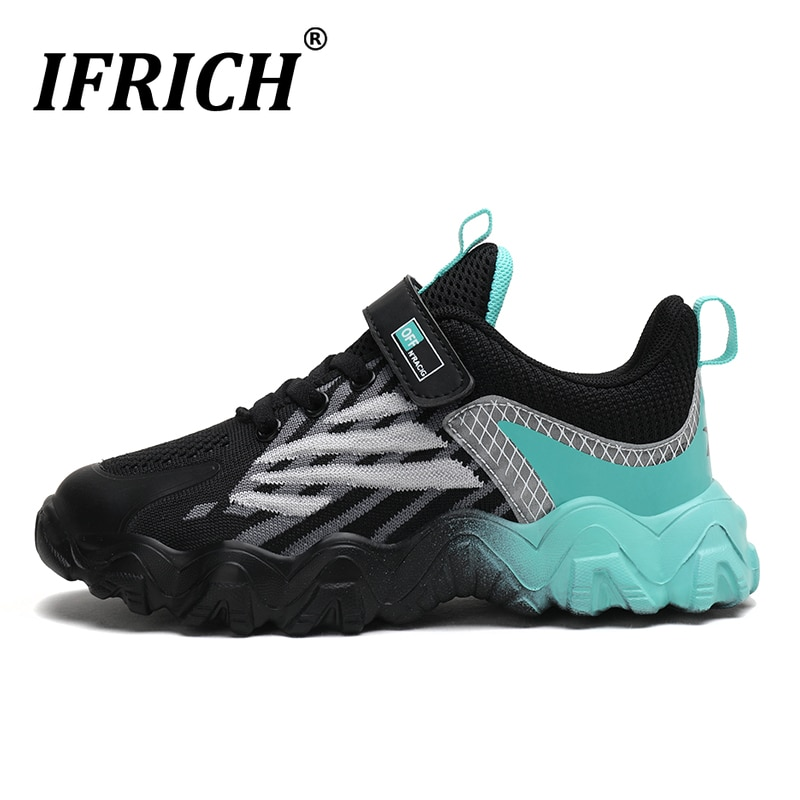 New Summer Boy Running Shoes Black Sport Shoe For Children Mesh Breathable Kids Boys Sneakers Designer Shoes Kids Size 28-40