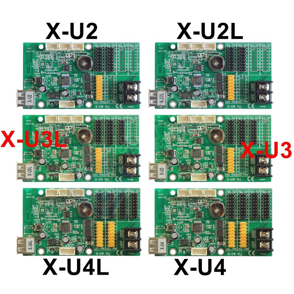 X-U2L X-U2 X-U3 X-U3L X-U4 X-U4L USB tarjeta de control LED para P10... f3.75... f5.0 individual/doble módulo led controlador de pantalla
