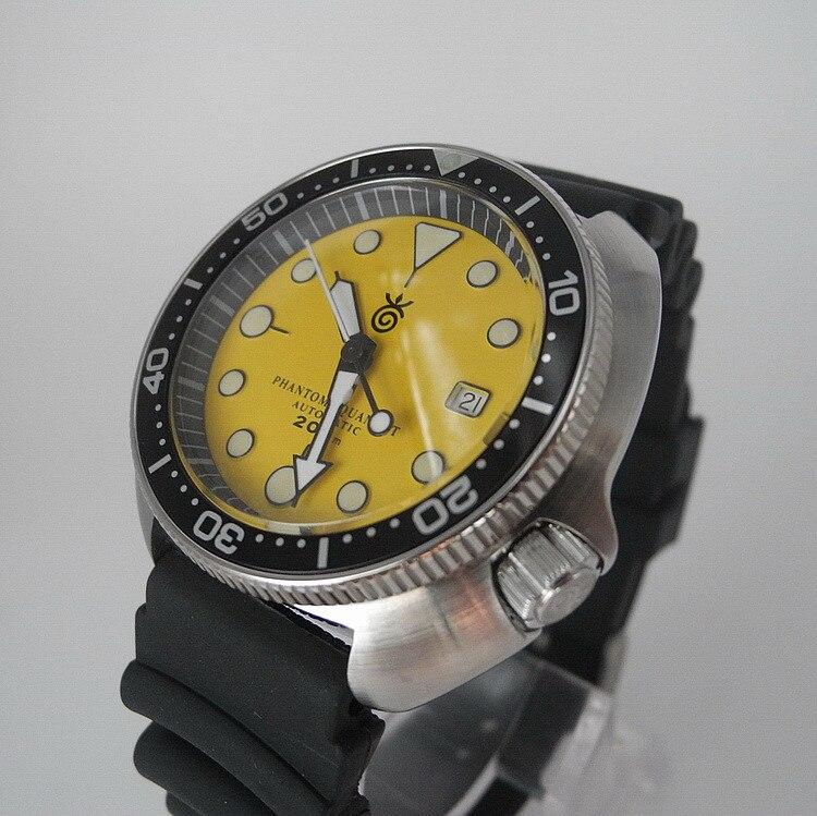 ساعة غواص 200 متر ريترو المياه شبح الكلاسيكية أذن البحر ساعة غوص St2130 التلقائي الميكانيكية ساعة يد تعمل بالحركة للرجال Skx007mod