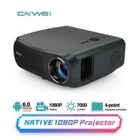 Projecteur de cinema maison sans fil  Android 6 0  4K  Bluetooth  Wifi  Full HD  1920x1080  prise en charge Native  7200 Lumens