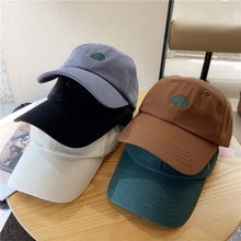 S Letter Embroidered Hat Women's Summer Hip Hop Peaked Cap Sun Hat Casual All-Matching Curved Brim B