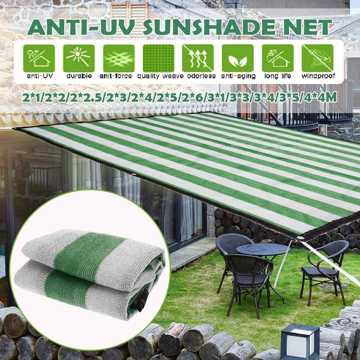 Rede de malha para jardim, tela com proteção solar, para o ar livre, para o sol, para caminhadas, jardim, pára-sol, protetor de sol