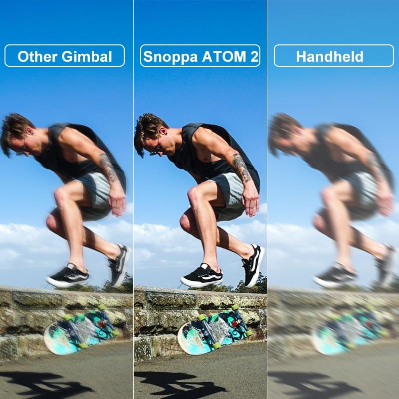 Snoppa ATOM 2 Foldable Smartphone Gimbal 3-Axis Auto Handheld Stabilizer Gimbal Anti-Shake With Tripod For Phone iPhone Huawei