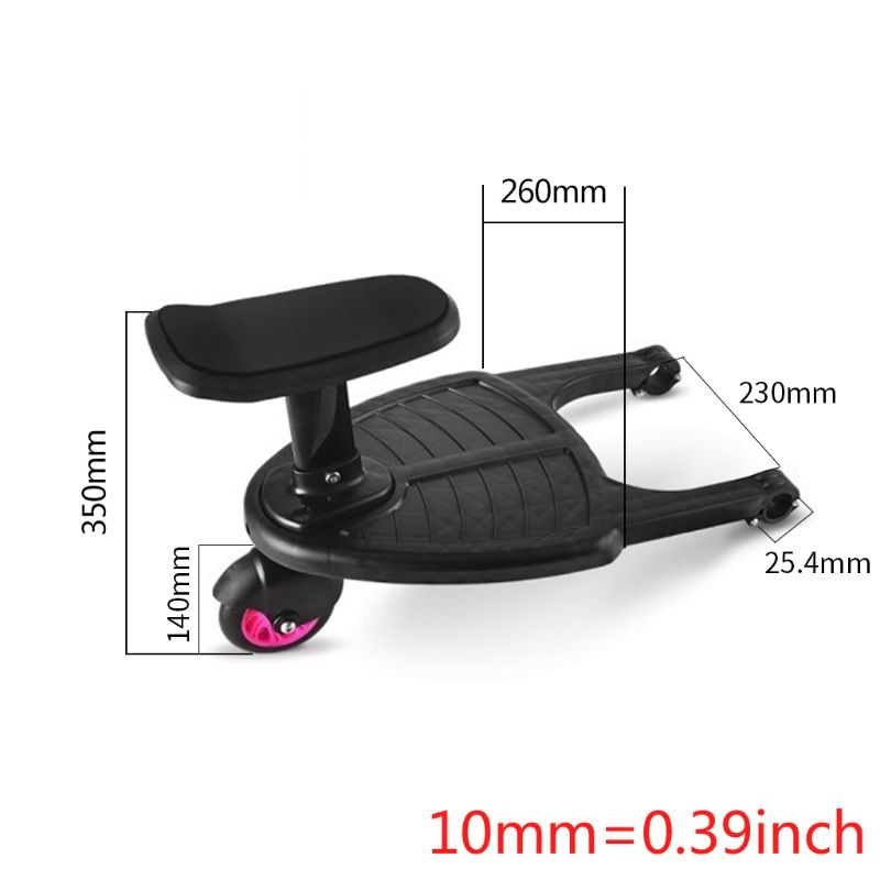 Fashion Children Stroller Pedal Adapter Second Child Auxiliary Trailer Twins Scooter Hitchhiker Kids Standing Plate with Seat enlarge