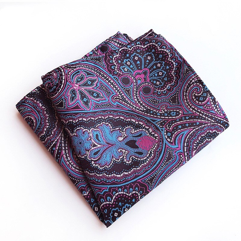 Male Hanky Business Suits Pocket Square Handkerchief Wedding Fashion Paisley Festival Gift for Man Small Scarf Man Tie 25*25cm
